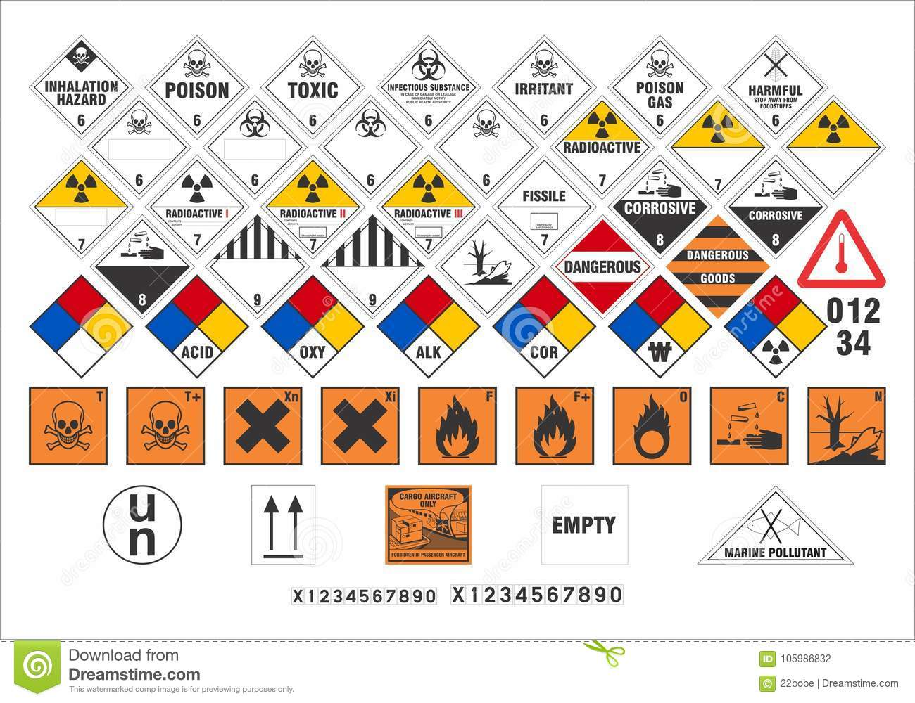 Safety warning signs transport signs 33 vector stock vector safety warning signs transport signs 33 vector biocorpaavc Choice Image