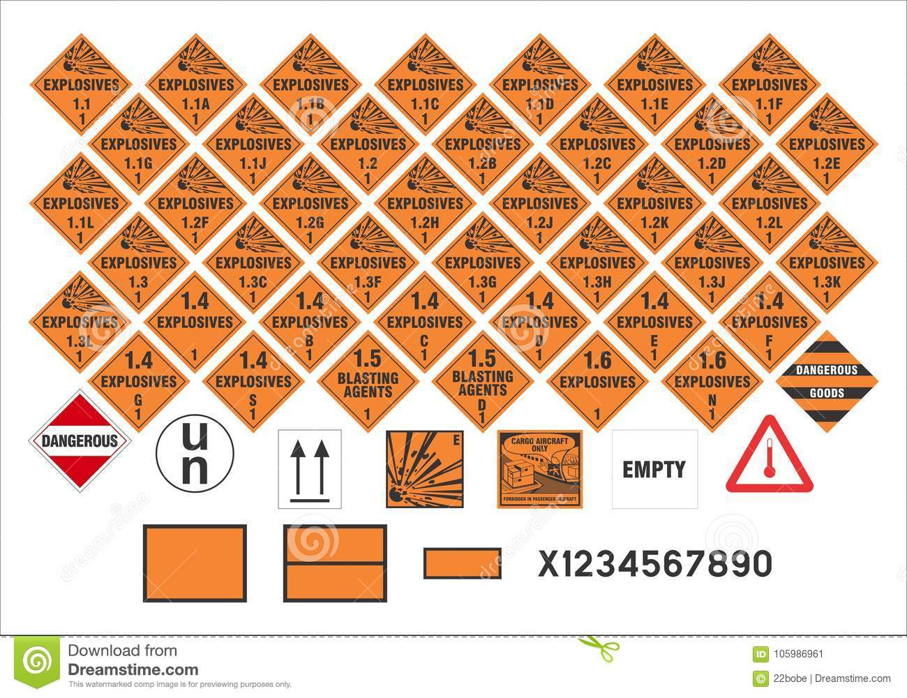 Safety warning signs transport signs 13 vector stock safety warning signs transport signs 13 vector biocorpaavc Choice Image
