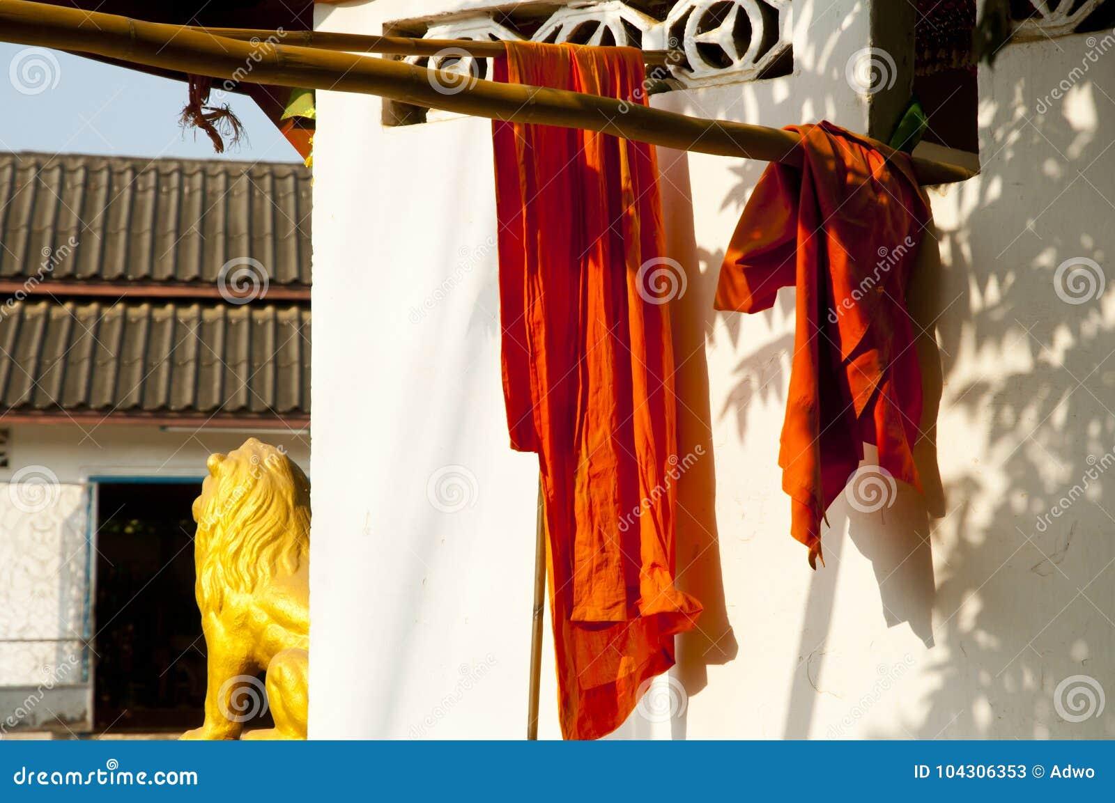 Saffraanmonnik Robes - Luang Prabang