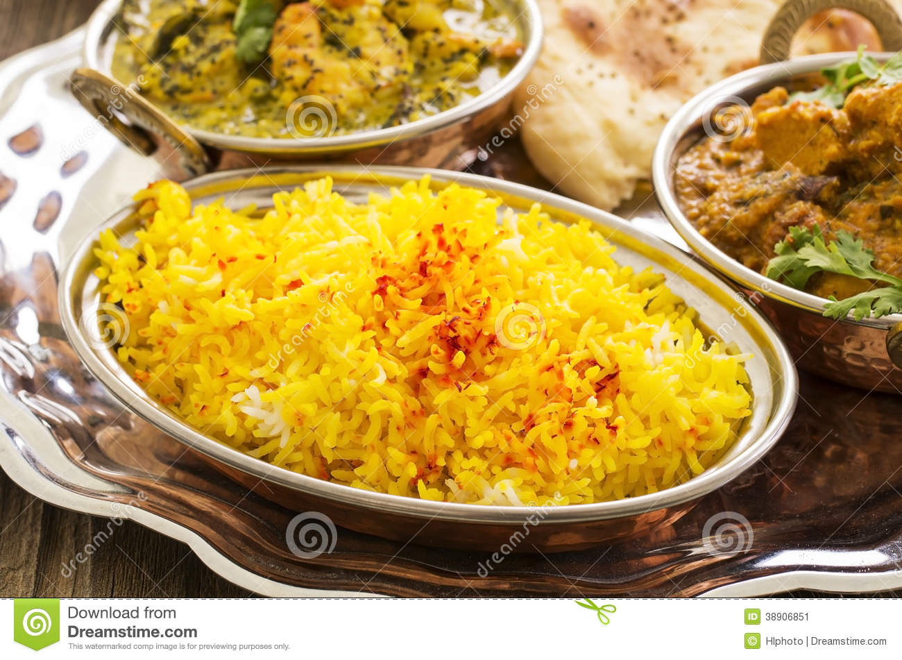 Saffron Rice Stock Photo - Image: 38906851