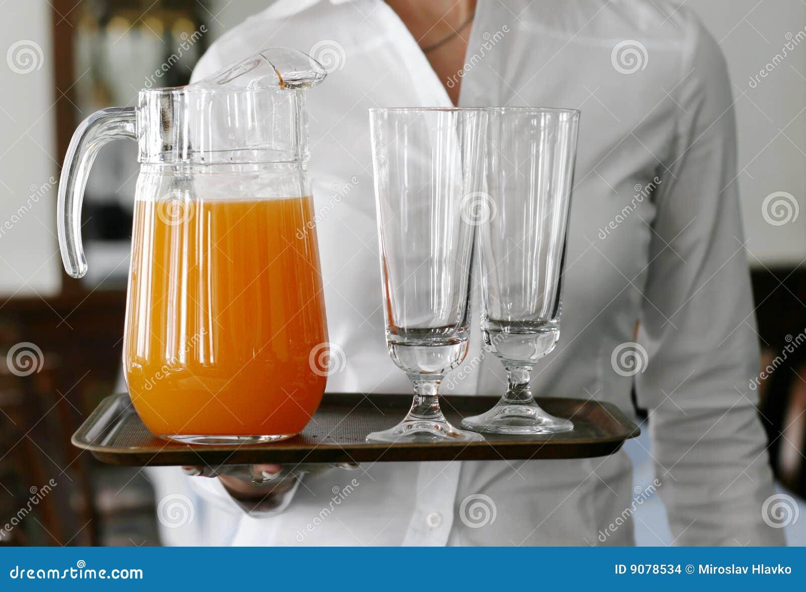 Saft auf dem Tellersegment