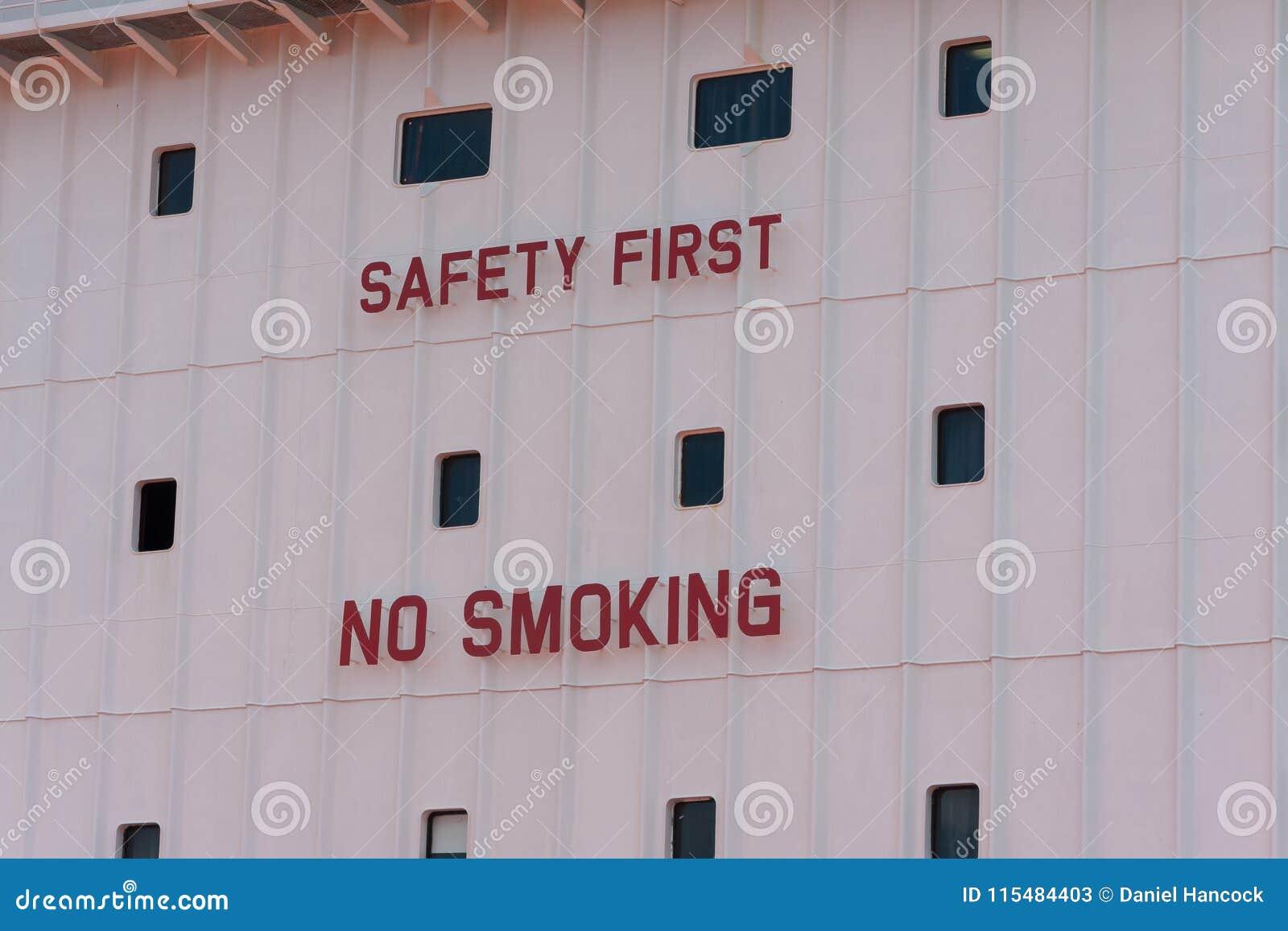 saftey first no smoking sign stock image image of smoking