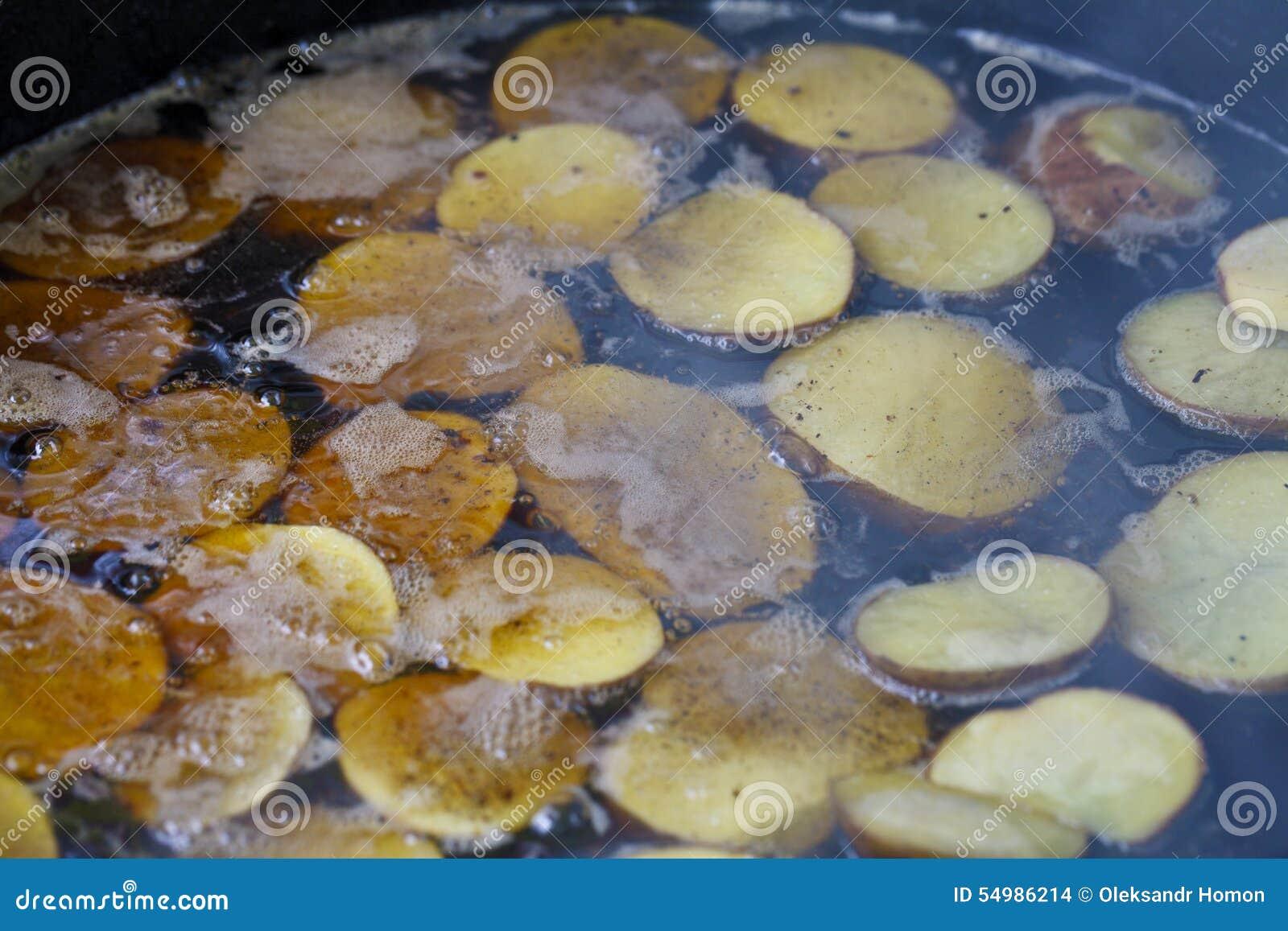 Saftiga stekte potatisar