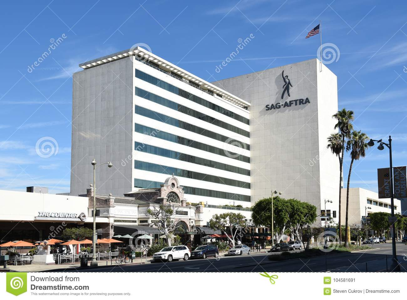 The SAG-AFTRA building editorial photo  Image of