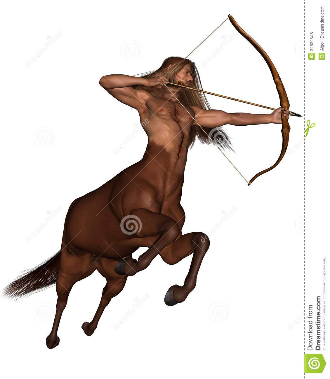 Centaur Archer Sagittarius The  Galloping Royalty Free Stock