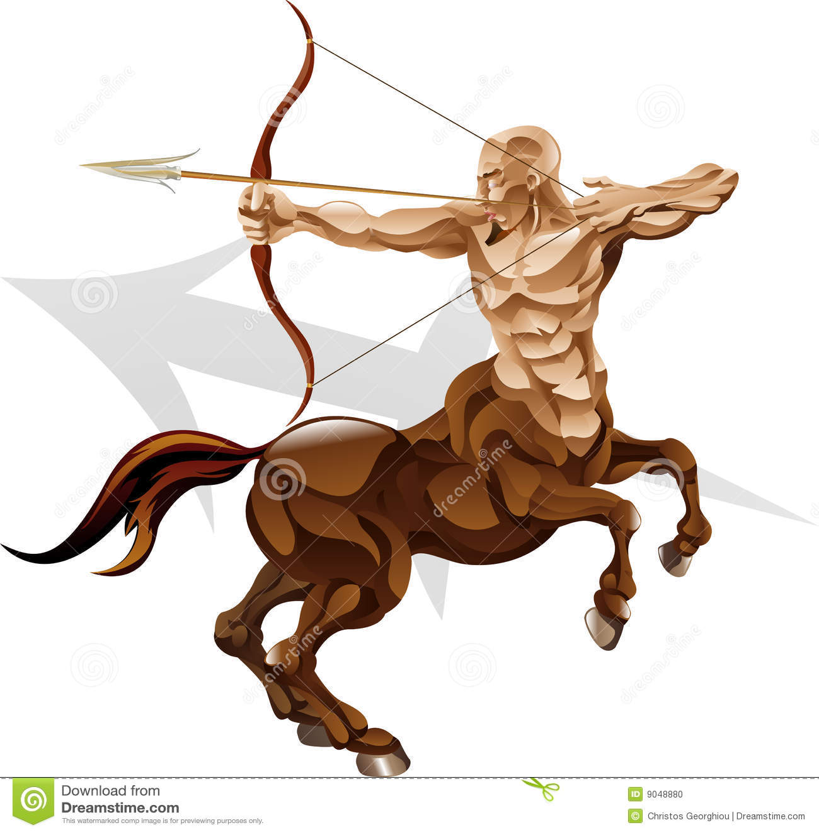 Sagittarius The Archer Star Sign Stock Vector - Illustration