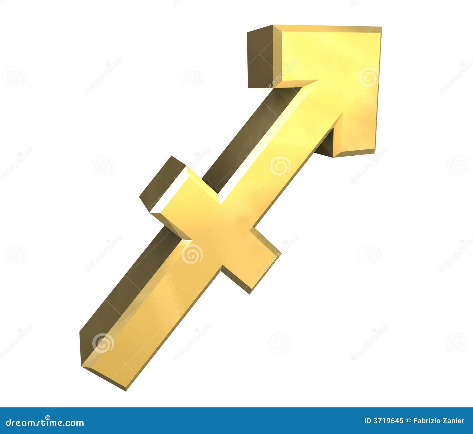 Sagittarius astrology symbol in gold 3d stock illustration sagittarius astrology symbol in gold 3d biocorpaavc