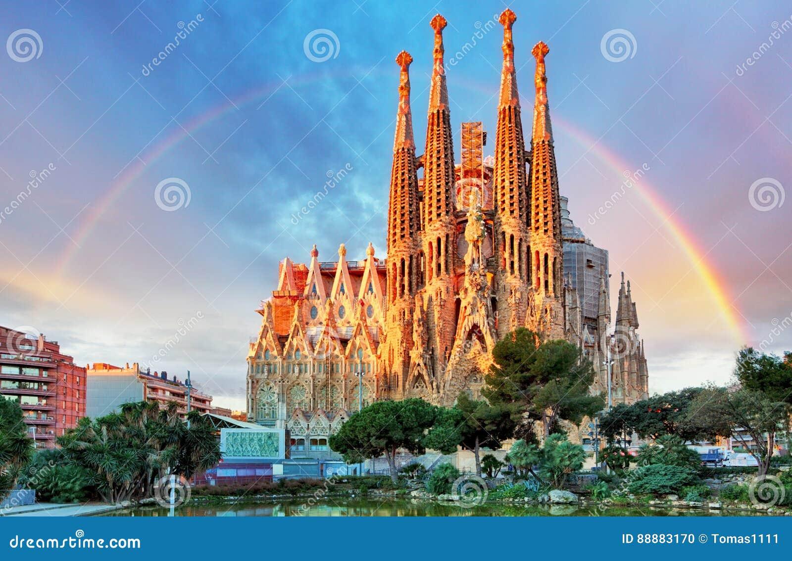 Sagrada Familia,在巴塞罗那,西班牙