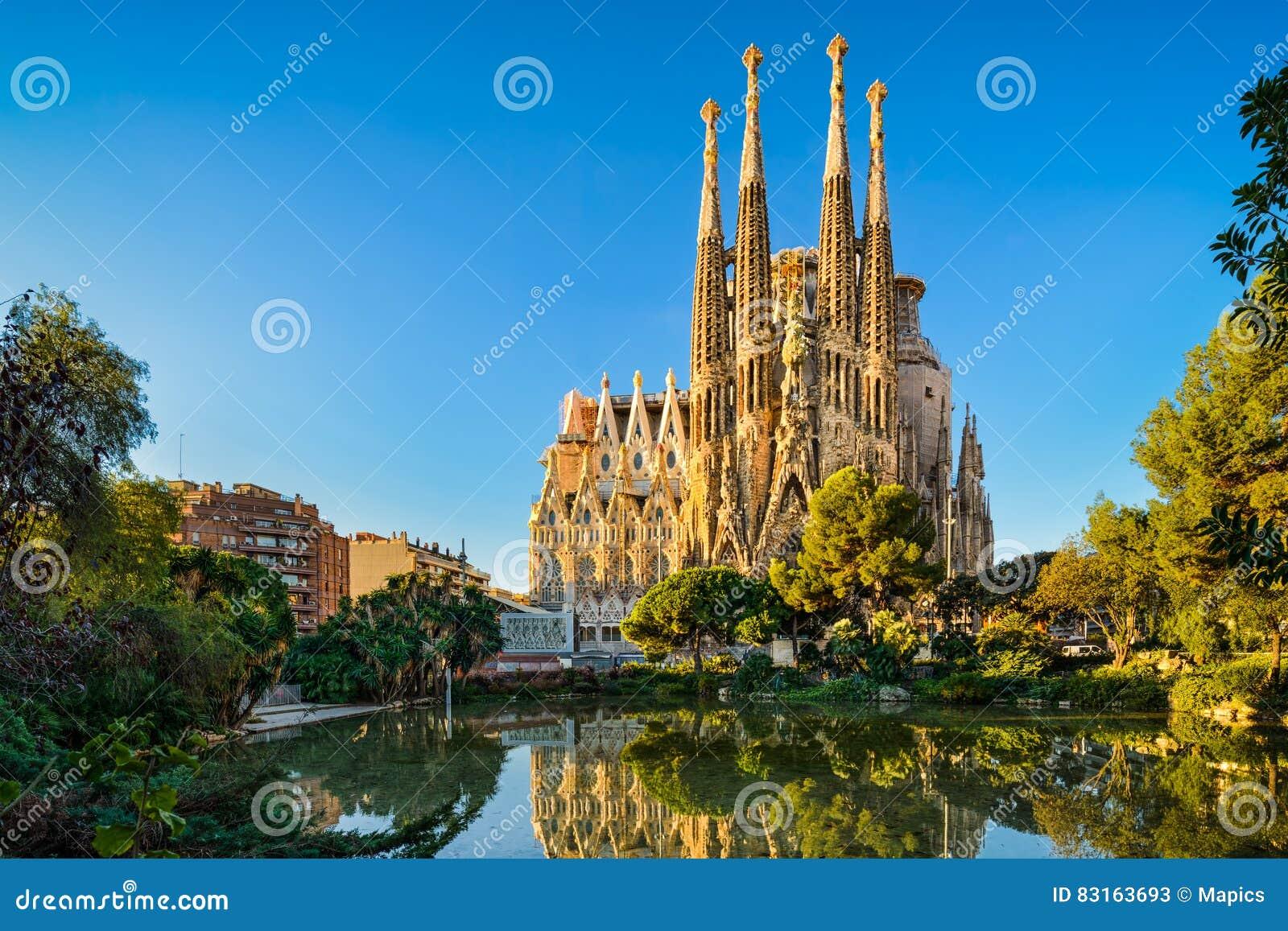 Sagrada Familia в Барселоне, Испании