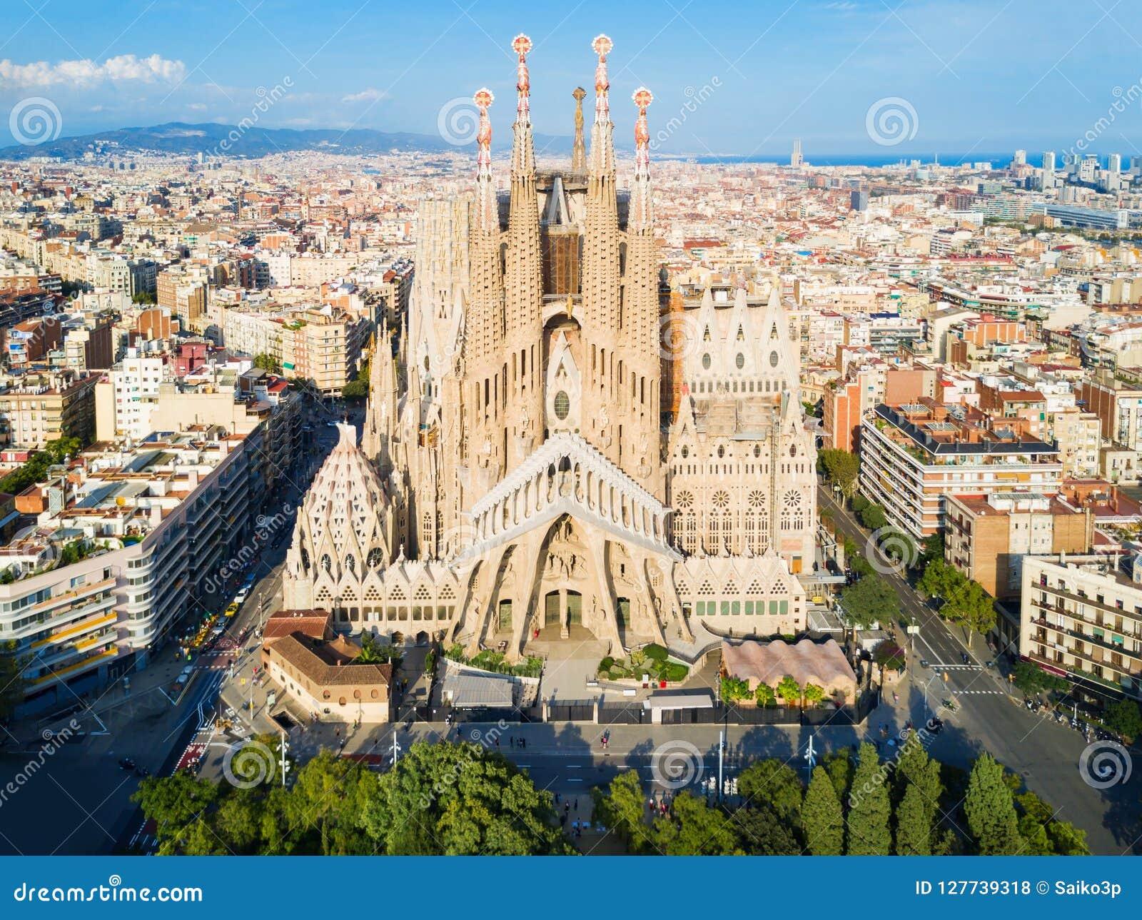 Sagrada Familia Aerial View Barcelona Editorial Stock Photo Image