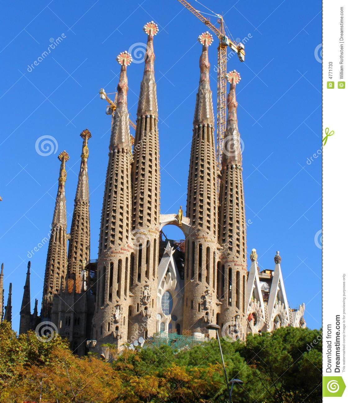 sagrada familia barcelona stockbild bild von kirche 4771733. Black Bedroom Furniture Sets. Home Design Ideas