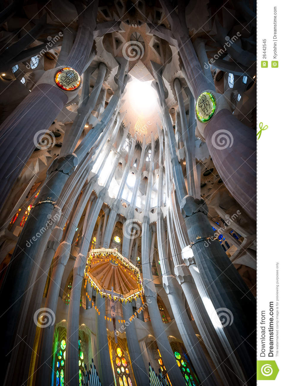 Sagrada Familia Of Barcelona In Spain Europe Editorial
