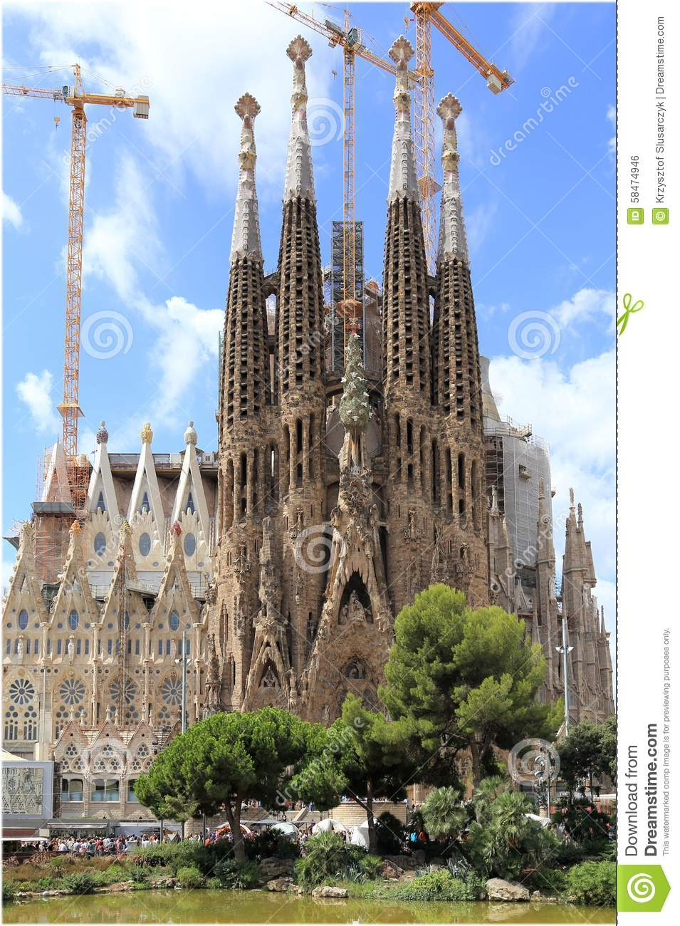 Sagrada Familia Basilica Editorial Photo - Image: 58474946