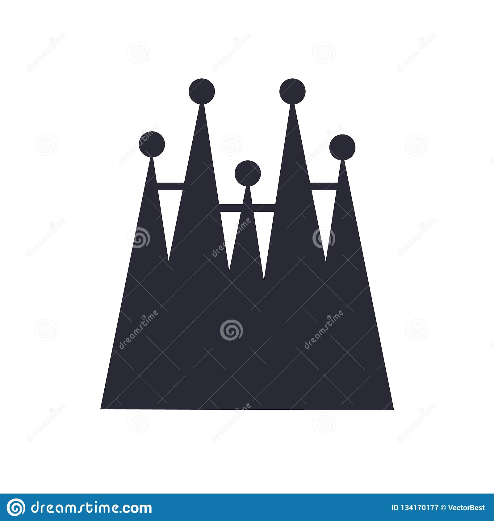 Sagrada Familia building icon sign and symbol isolated on white background, Sagrada Familia building logo concept