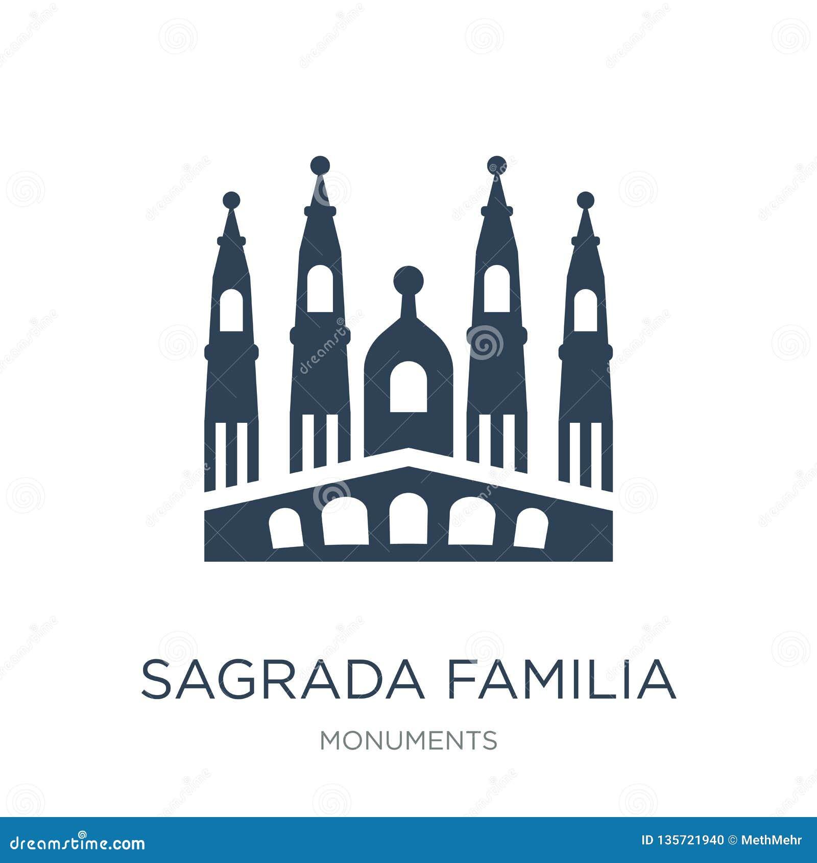 sagrada familia building icon in trendy design style. sagrada familia building icon isolated on white background. sagrada familia