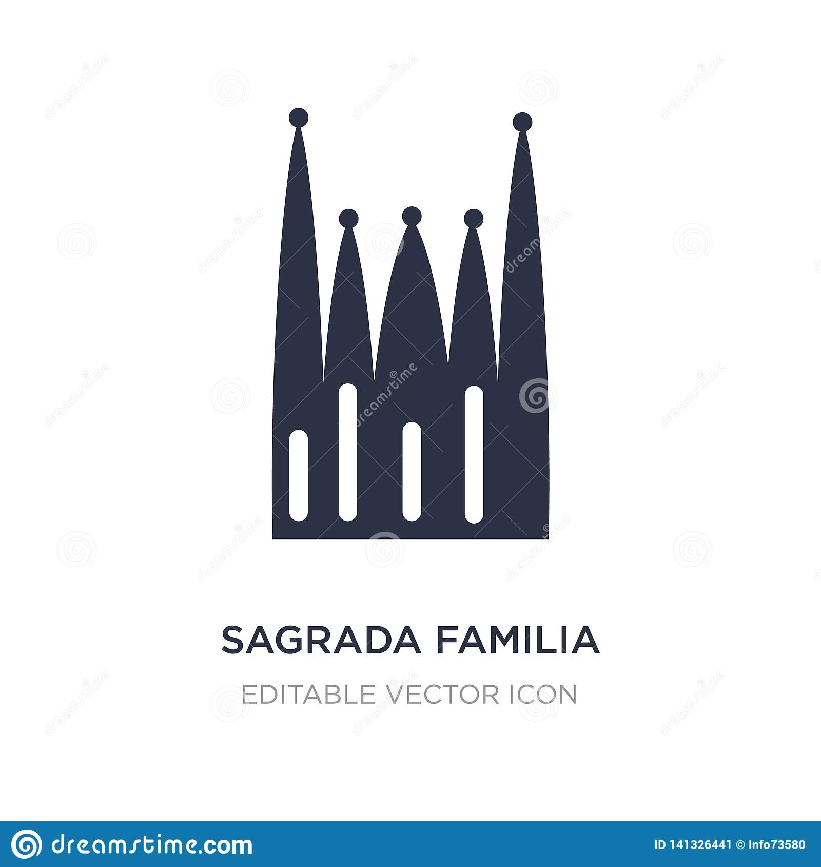 sagrada familia building icon on white background. Simple element illustration from Monuments concept
