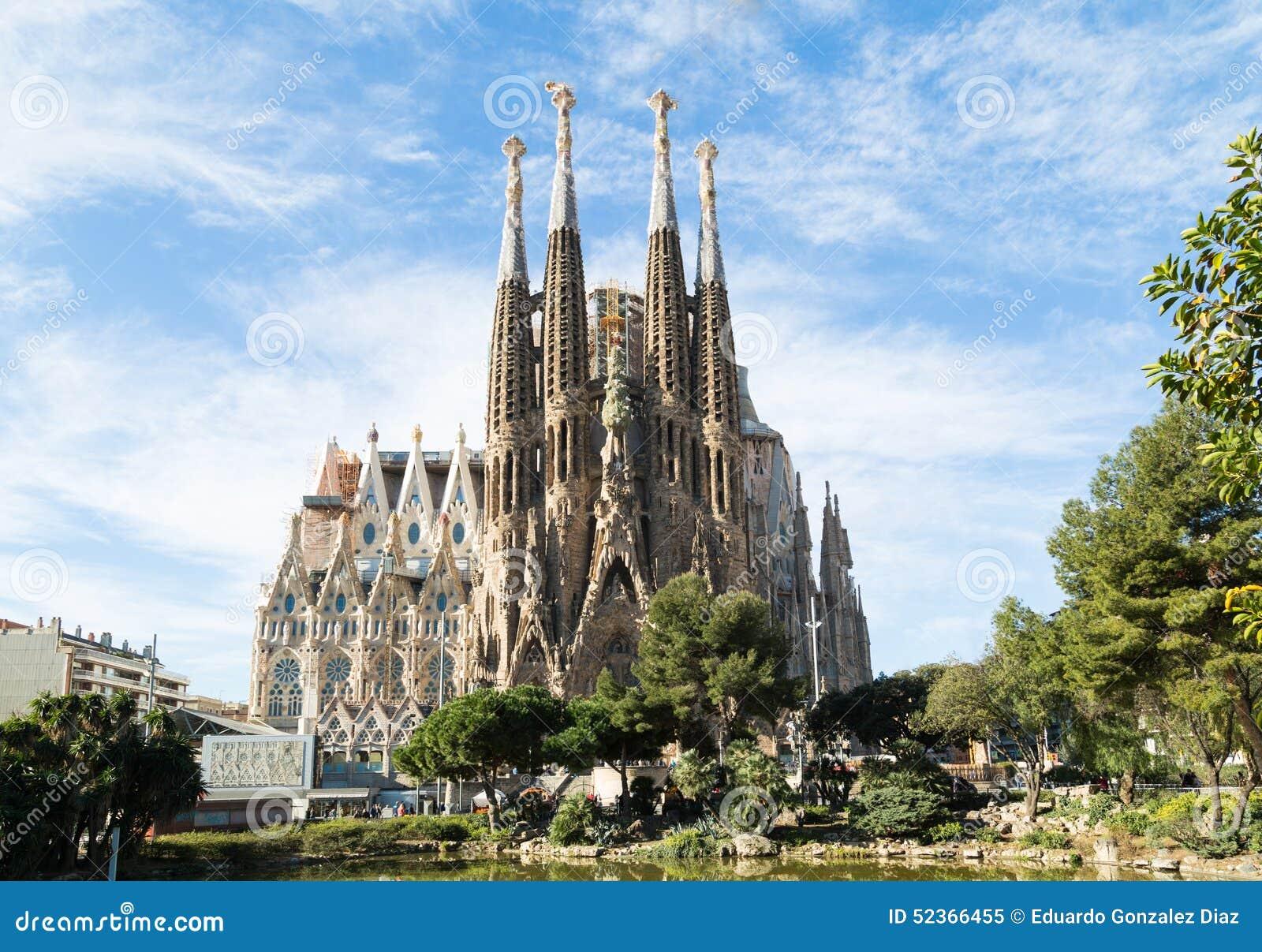 Sagrada Familia i Barcelona, Spanien