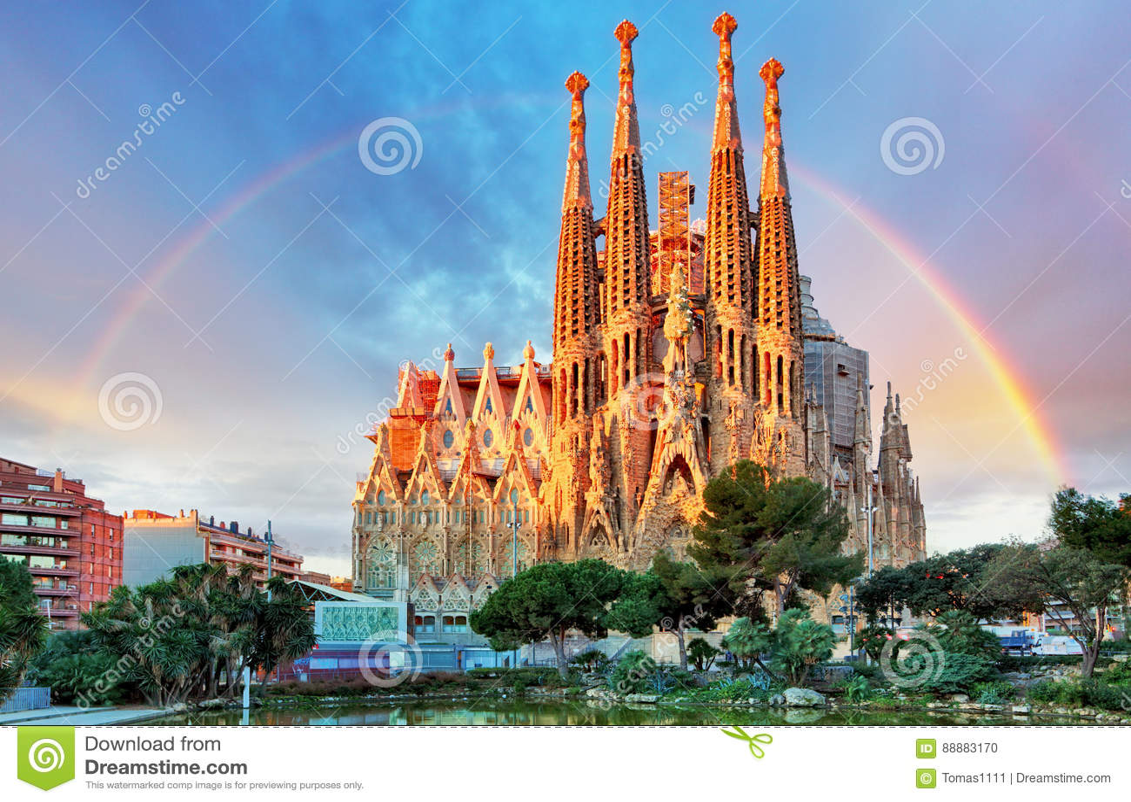Sagrada Familia, i Barcelona, Spanien