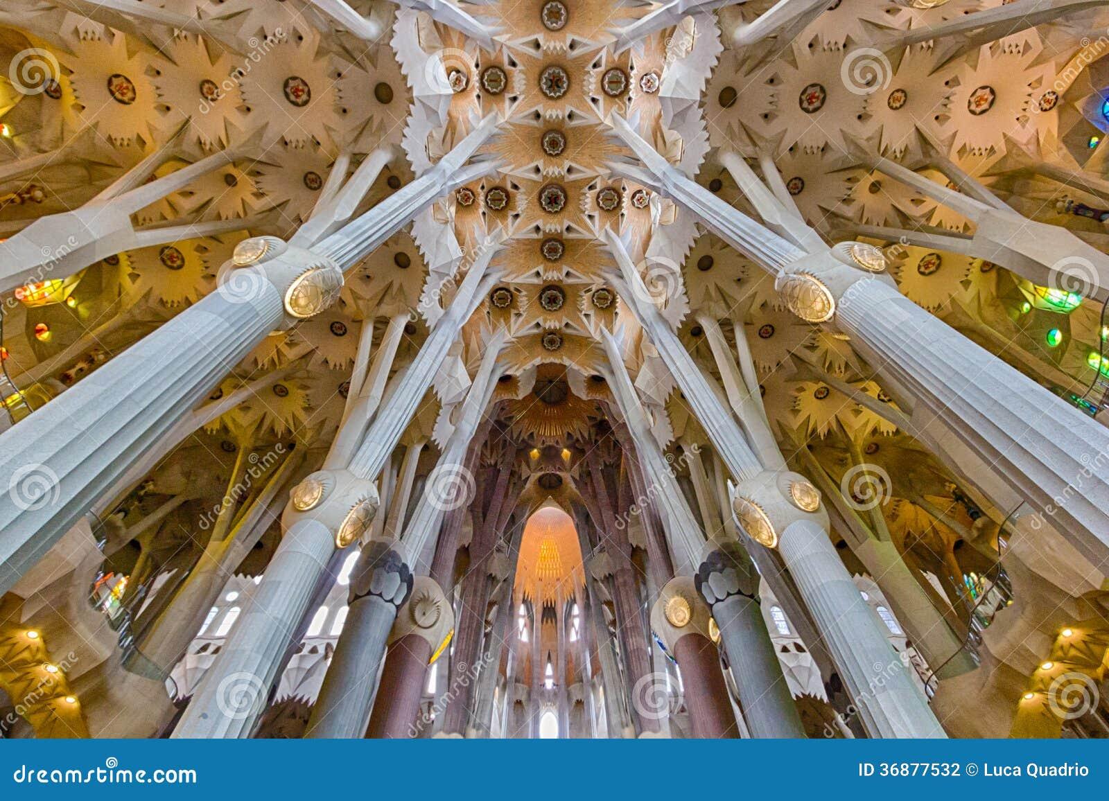 Download Sagrada Familia - Nave Principale Fotografia Editoriale - Immagine di spain, neanderthal: 36877532