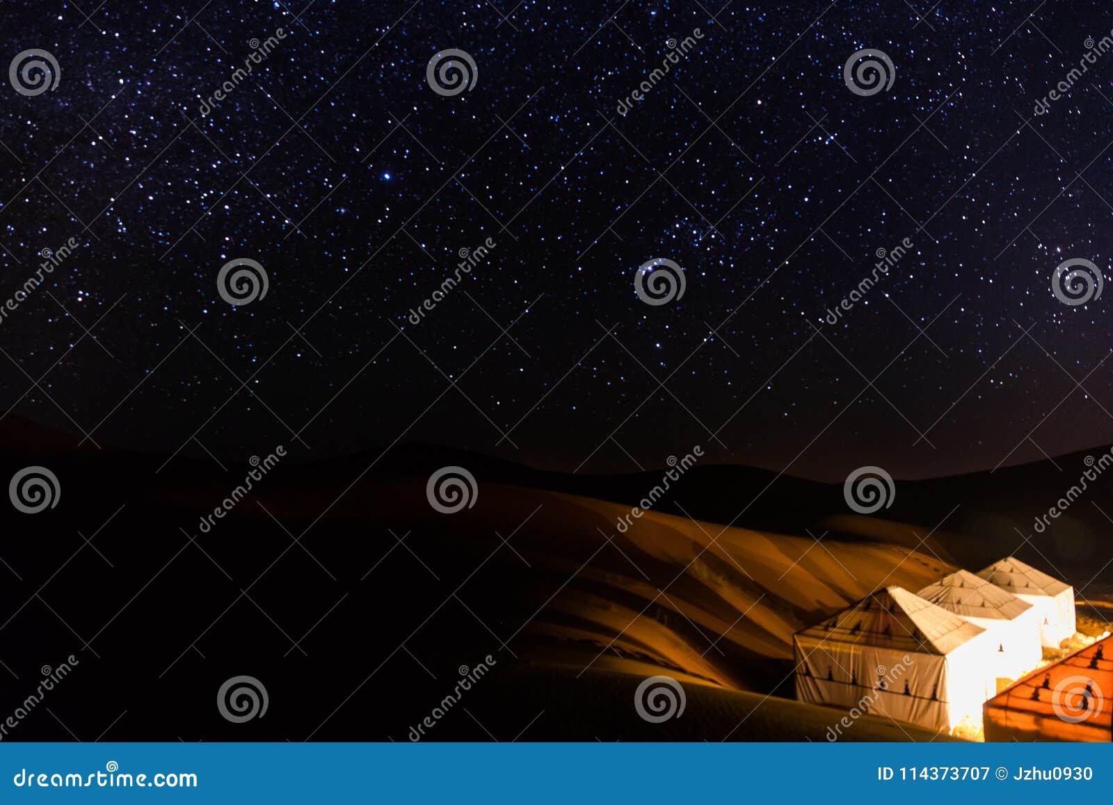 Sahara Gwiaździsta noc