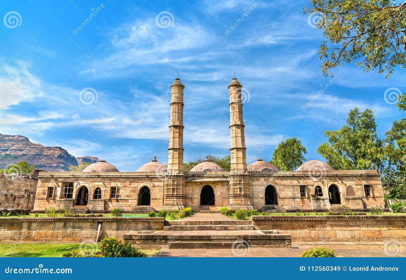 Sahara Ki Masjid przy Champaner-Pavagadh Archeologicznym parkiem UNESCO dziedzictwa miejsce w Gujarat, India