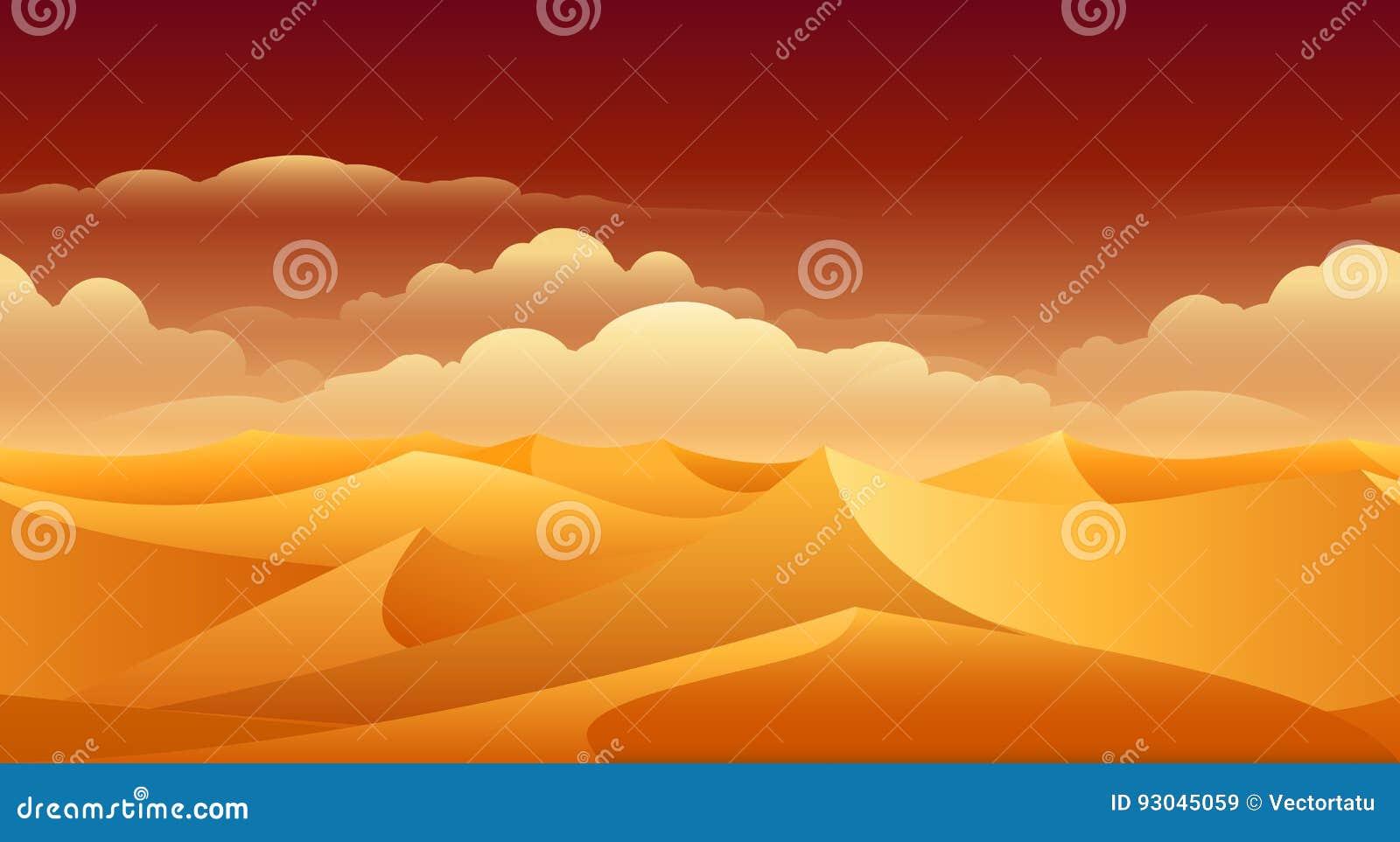 Sahara piaska diun panorama