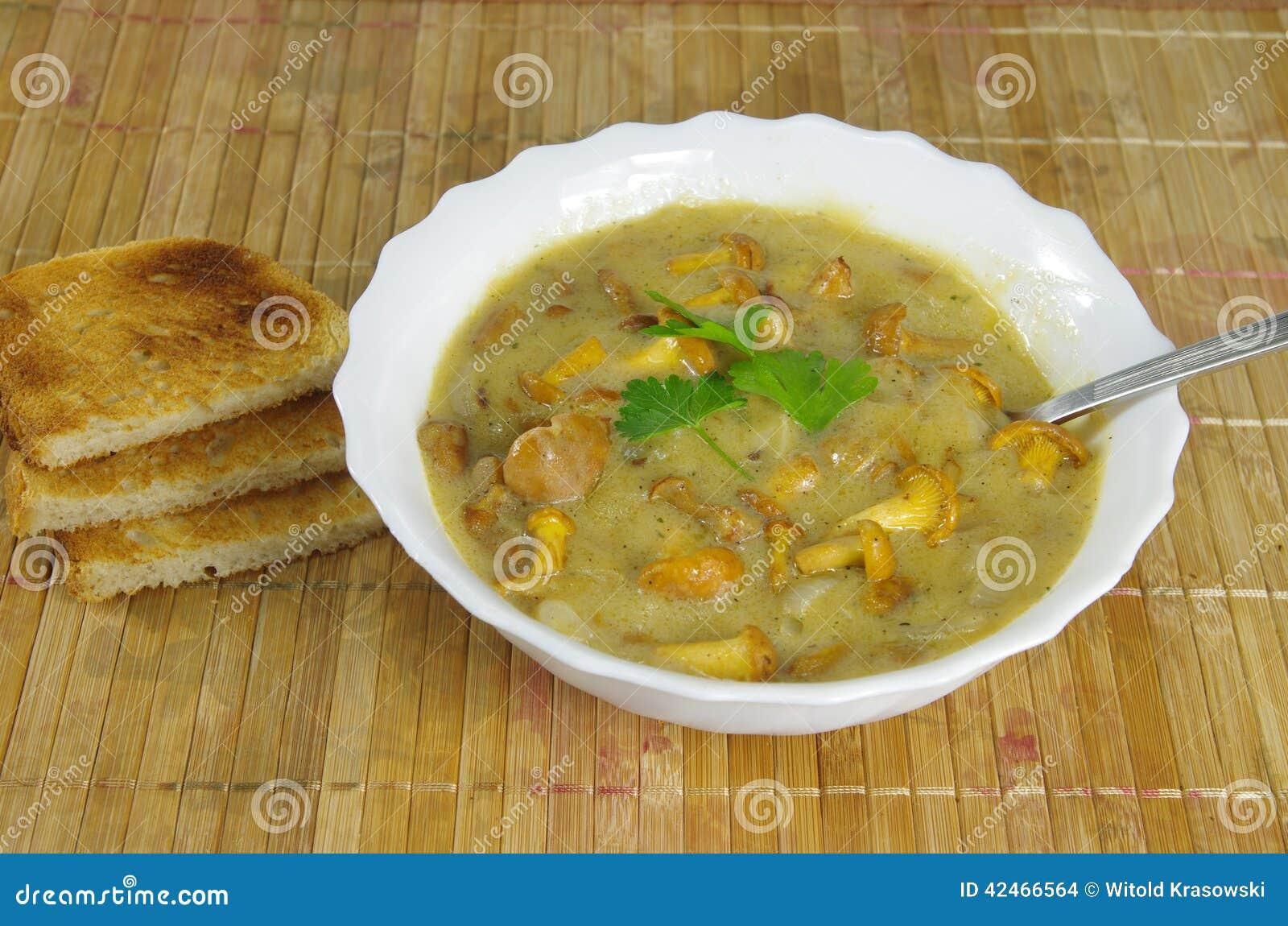 Sahnesuppe mit Pfifferling
