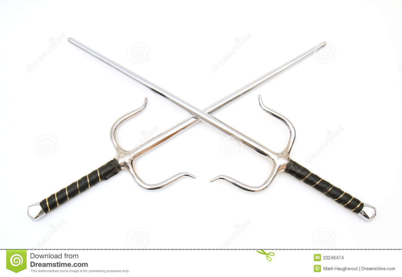 Sai stock photo  Image of martial, defense, sword, defend