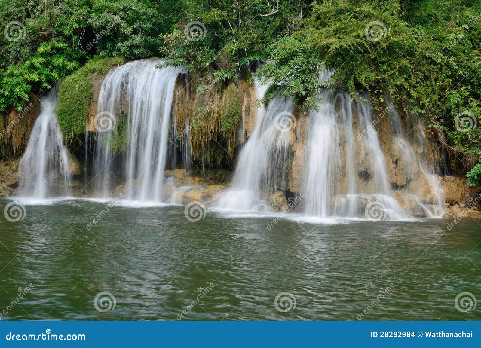 Sai Yok Yai Falls At Sai Yok National Park. Stock Images ...