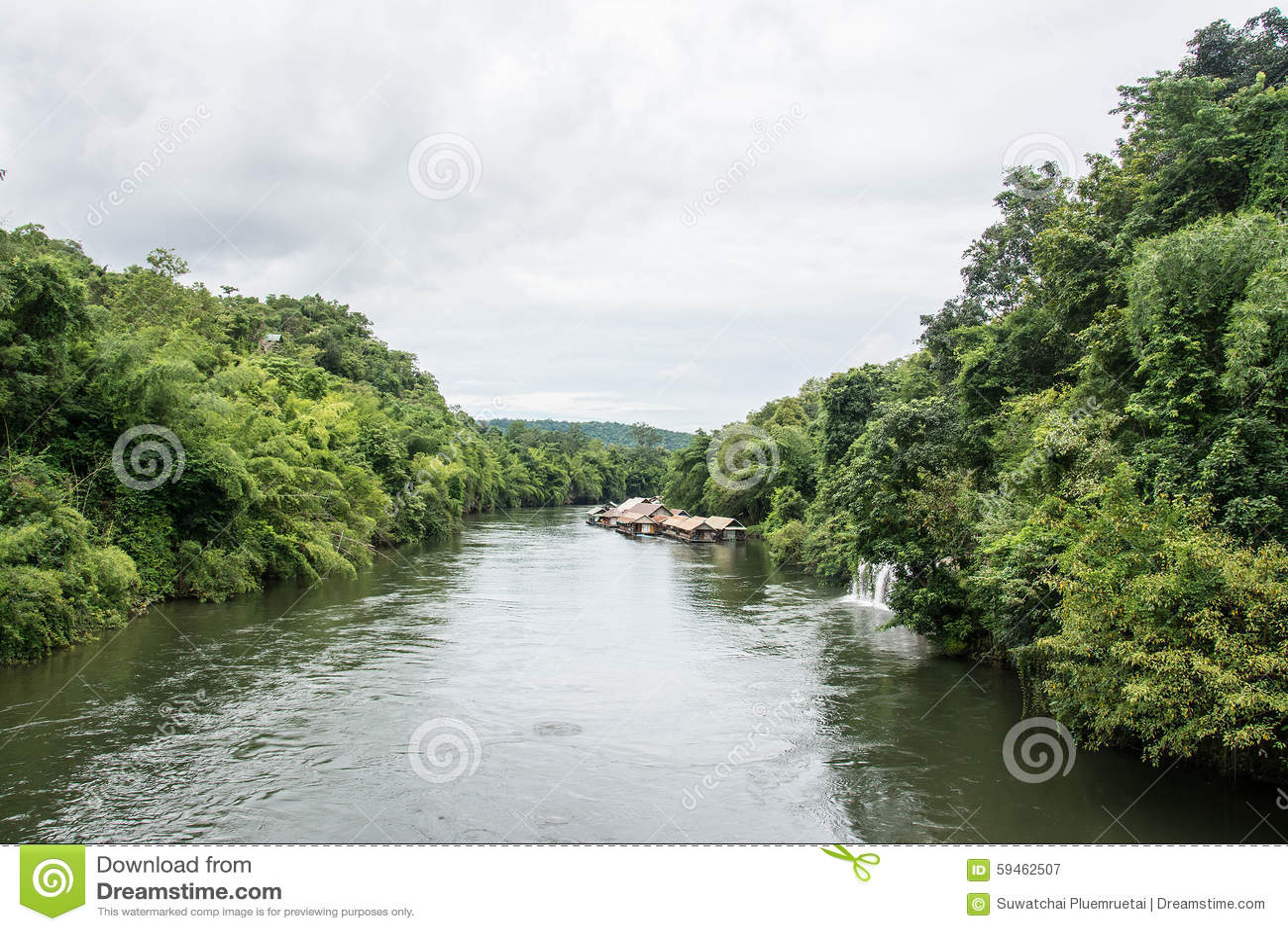 Sai Yok Yai Waterfall Flows Directly Into Khwae Noi River ...