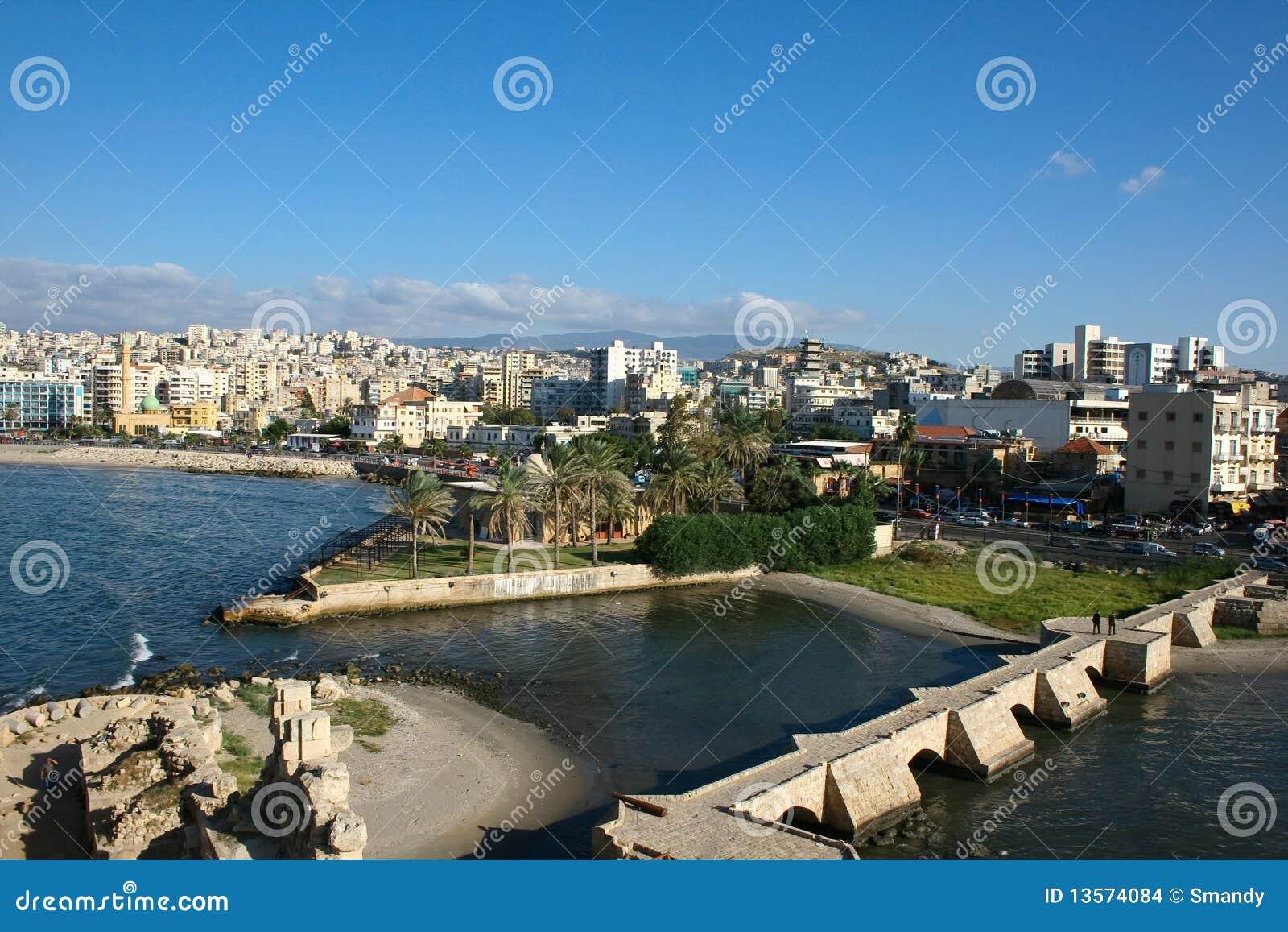 Saida/Sidon van het Kasteel van Kruisvaarders, Libanon