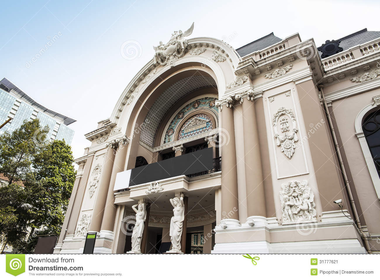 saigon opera house or municipal theatre of ho chi minh