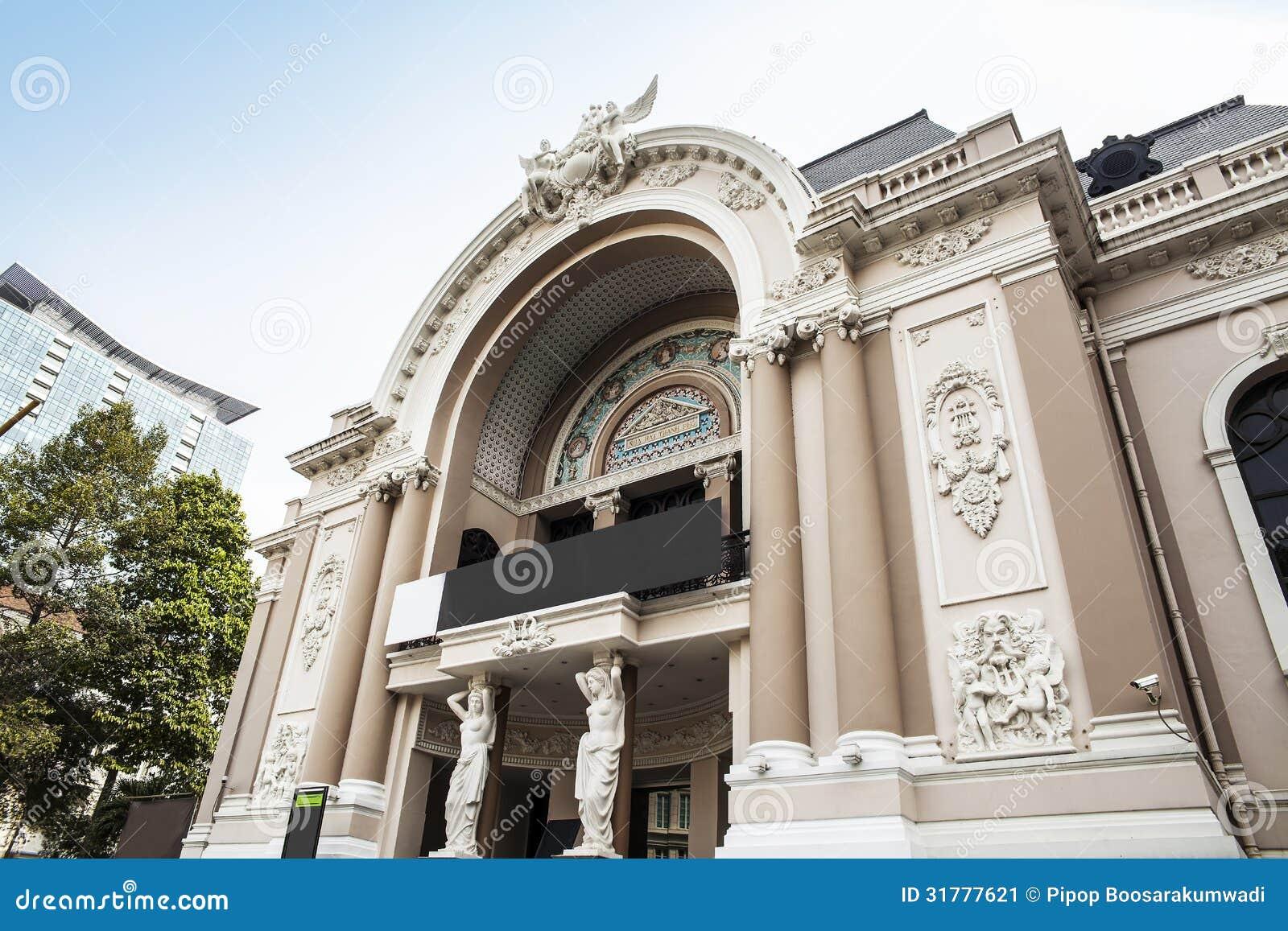 saigon opera house or municipal theatre of ho chi minh