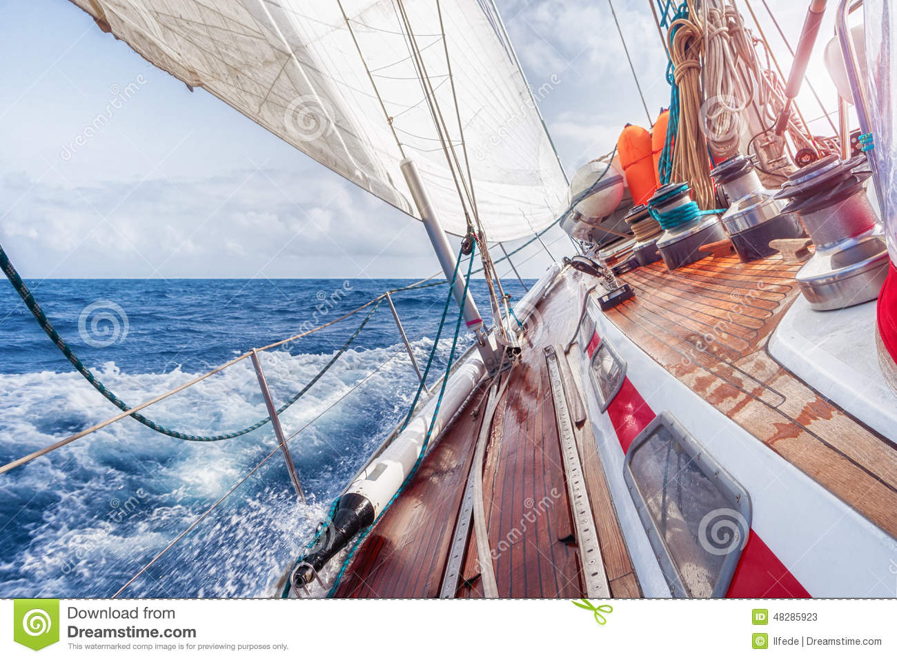 Download Sail boat stock image. Image of nautical, navigate, boat - 48285923