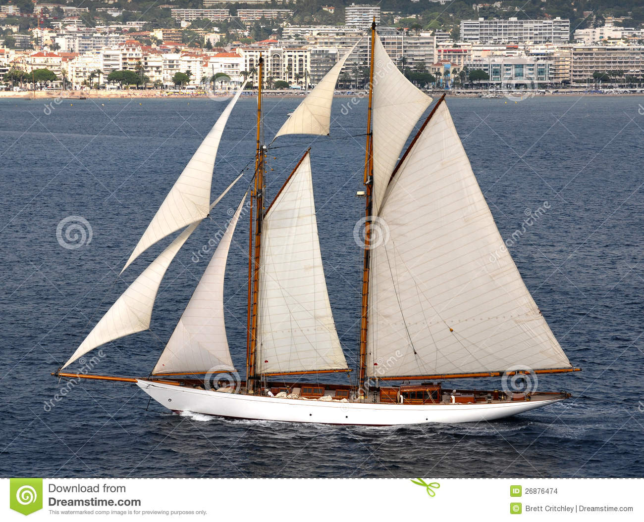 Download Sail boat with sails stock photo. Image of water, mast - 26876474