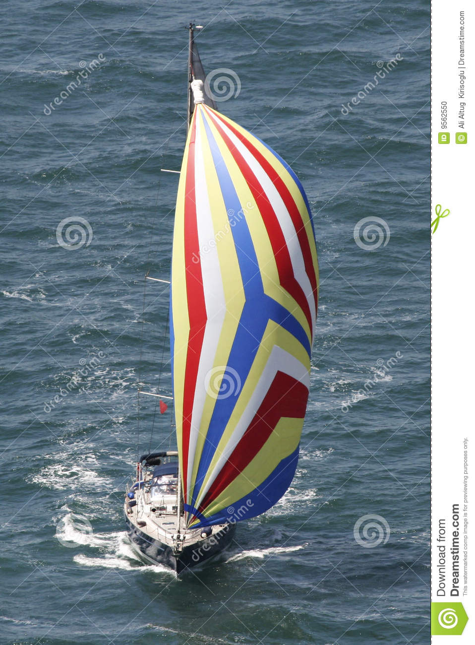 how to fly a spinnaker sail