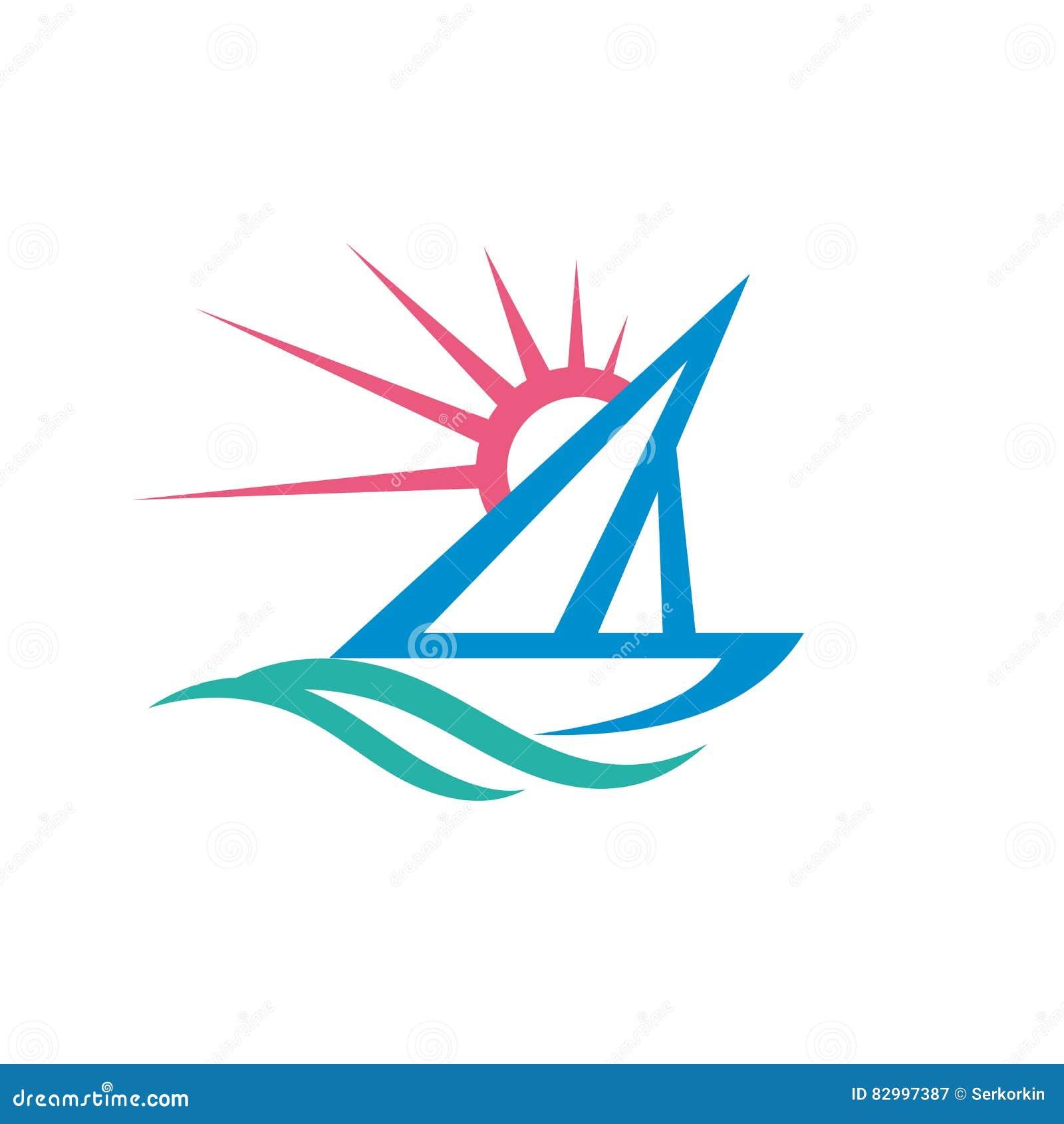 sail boat vector logo template concept illustration ship sign