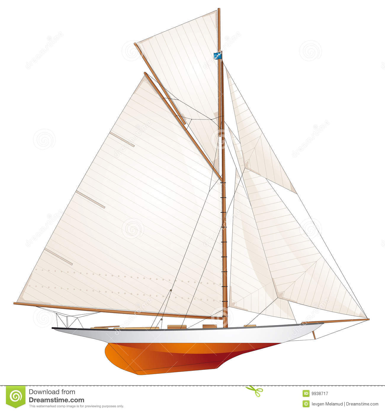 Sailboat. Classic Racing Yacht Royalty Free Stock Photography - Image ...