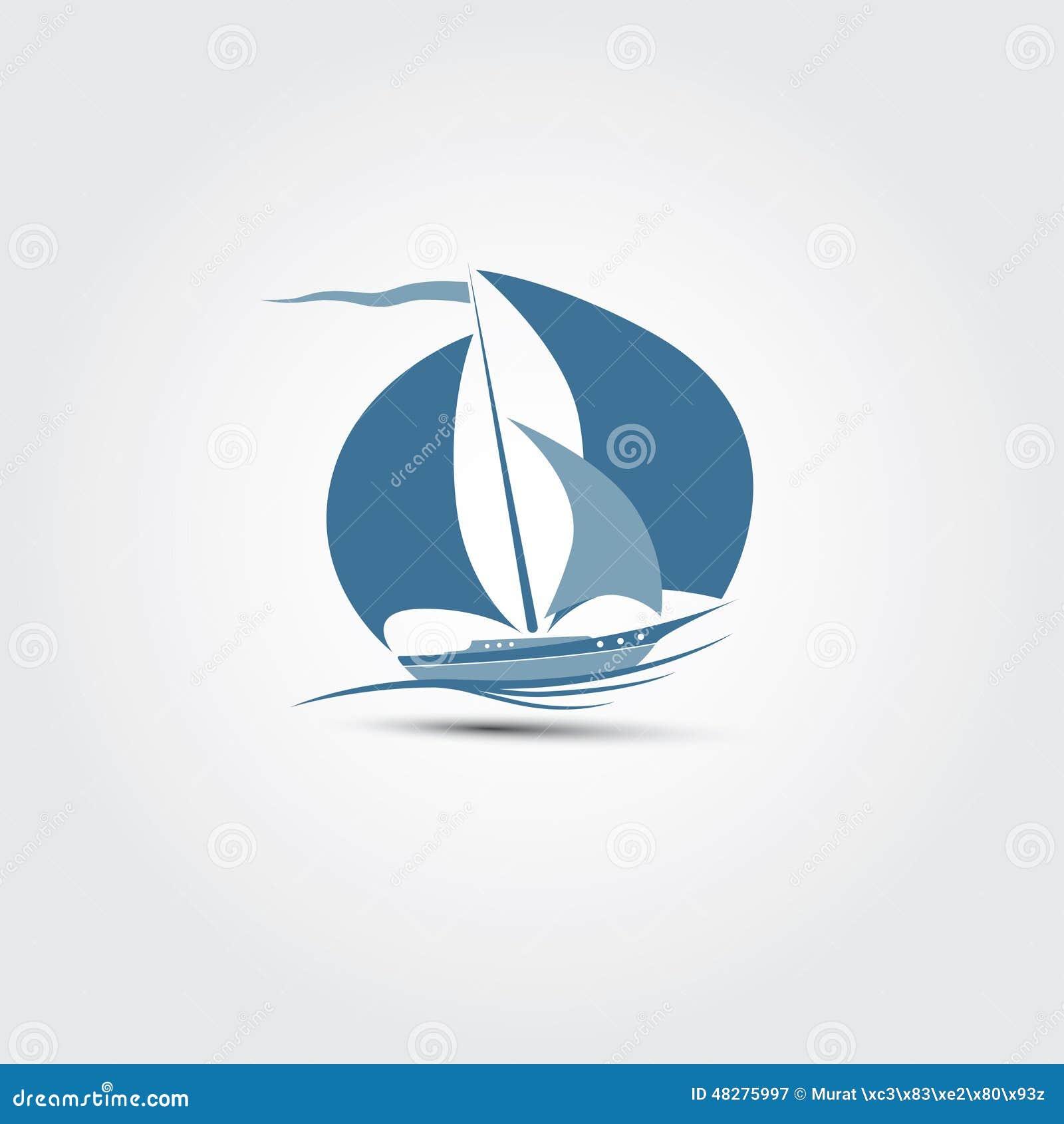 sailboat illustrator  stock vector