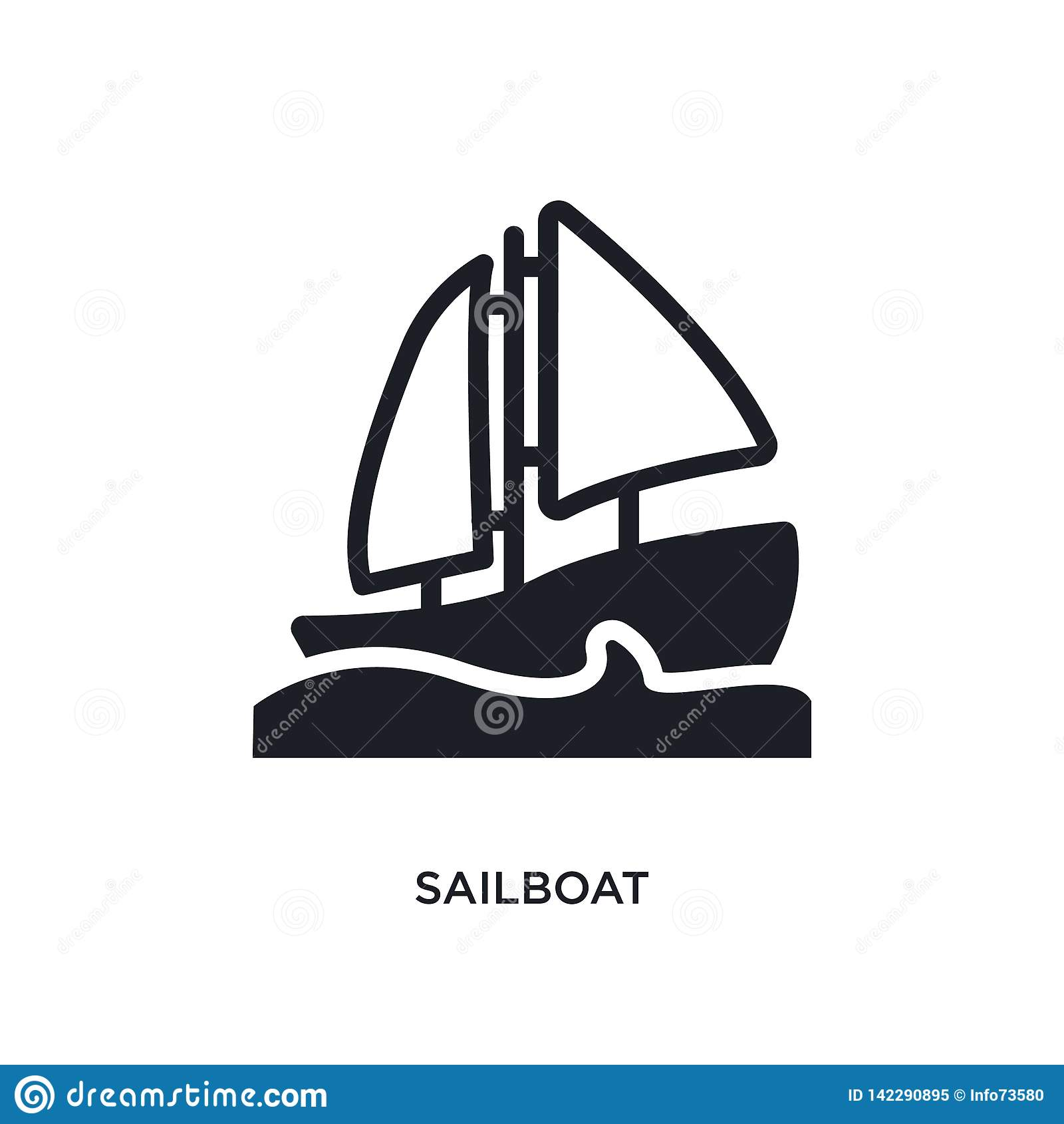 sailboat isolated icon. simple element illustration from nautical concept icons. sailboat editable logo sign symbol design on