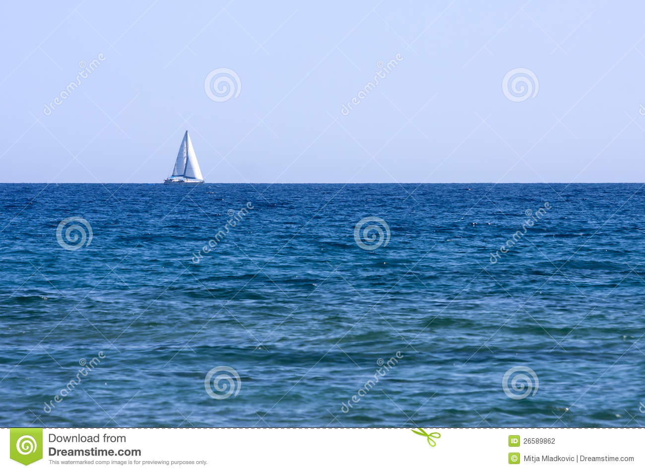 Sailboat On The Sea Stock Photography - Image: 26589862