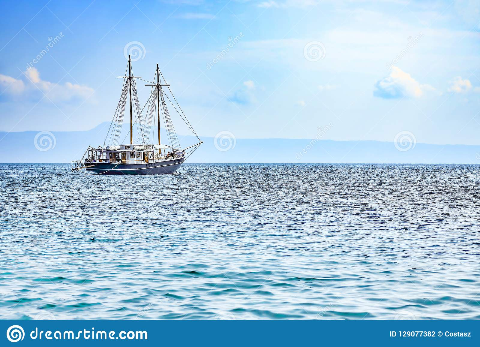 Sailboat at sea stock photo. Image of relax, perfect ...