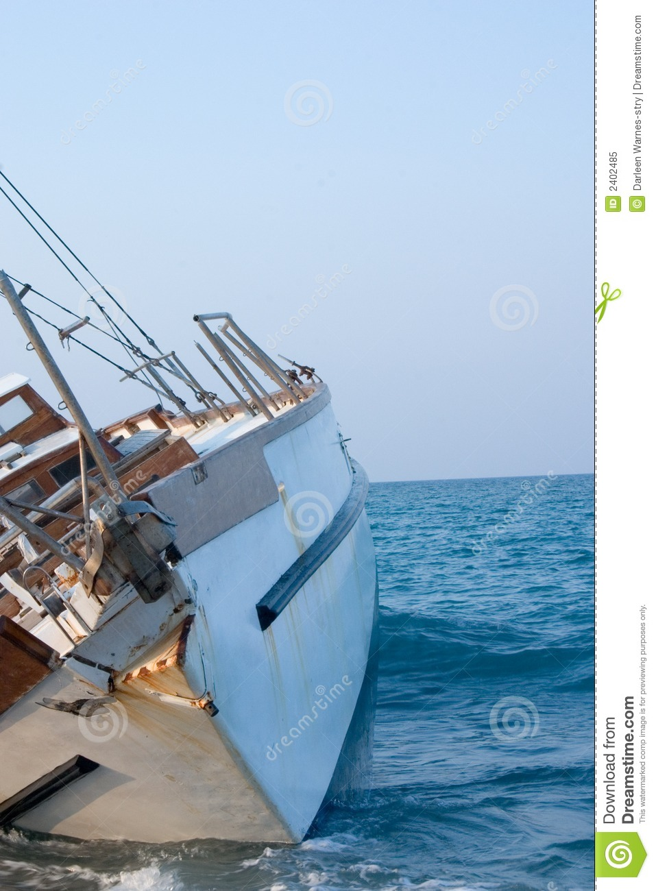 Sailboat Shipwreck stock image  Image of boating, gone - 2402485