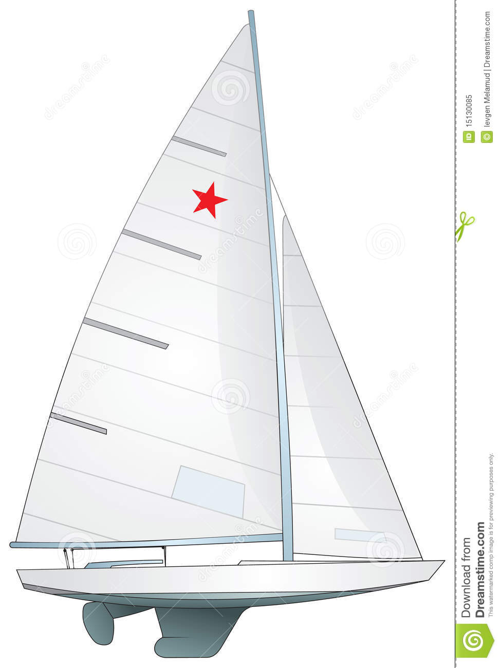 Sailboat. Star Class Yacht stock vector. Illustration of international - 15130085