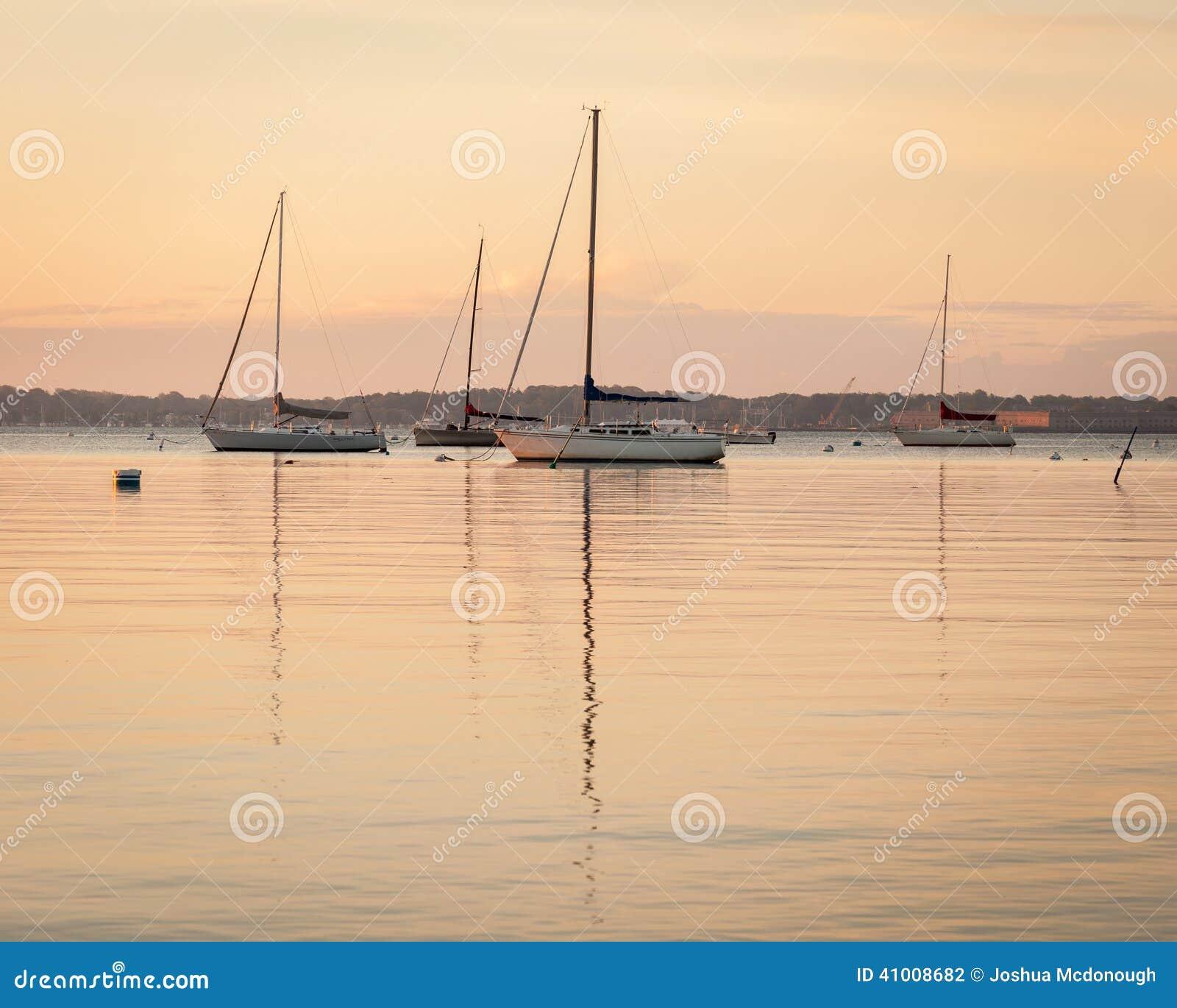 Sailboat Sunrise at Anchor