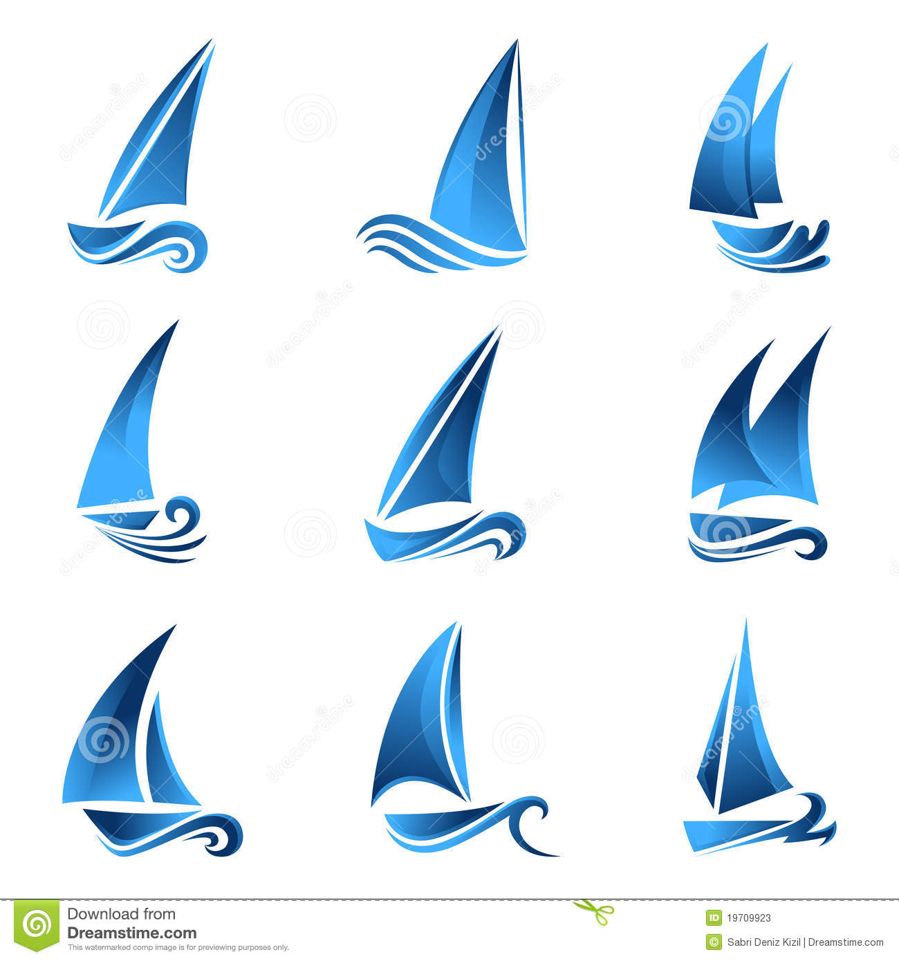 Sailboat symbol stock vector. Illustration of wind ...