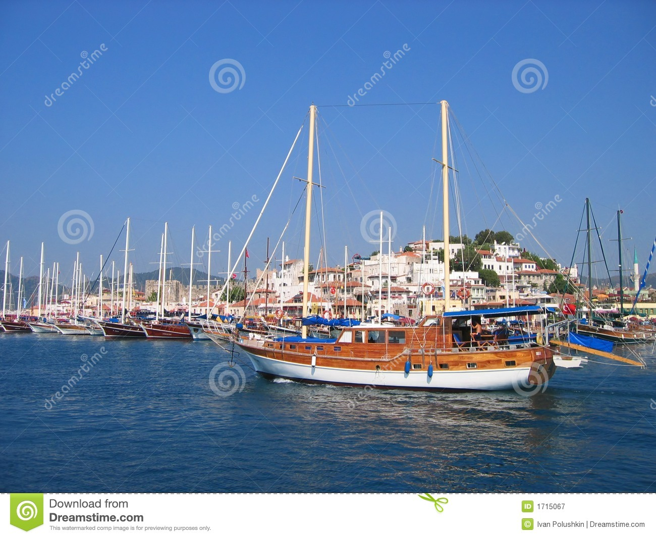 Sailboats In Harbor Royalty Free Stock Photography - Image ...