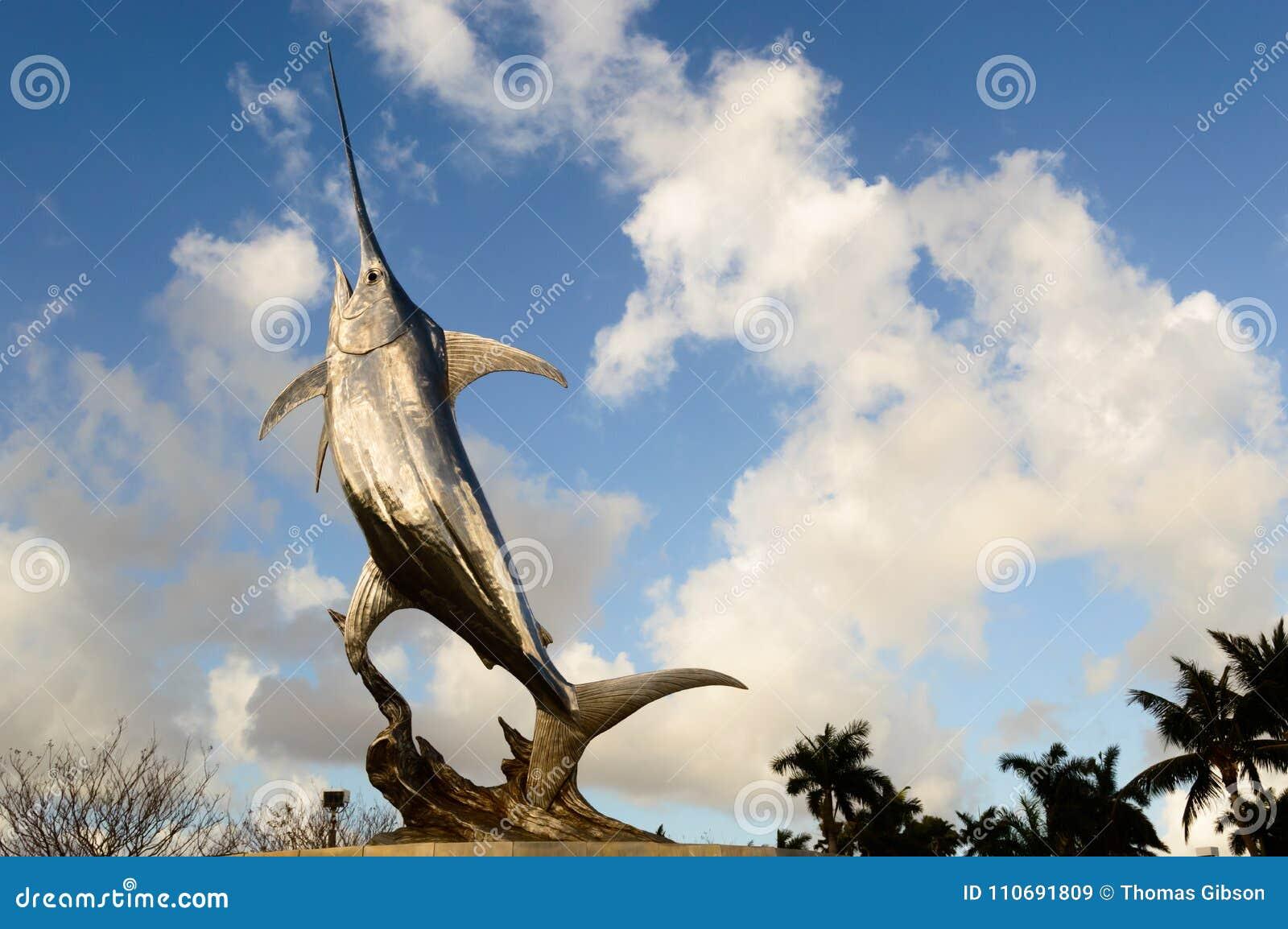 Sailfish statue stock image  Image of blue, wallpaper - 110691809