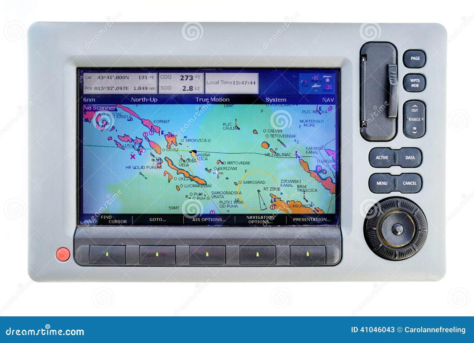 Sailing Boat Gps Stock Image Of Display Guide