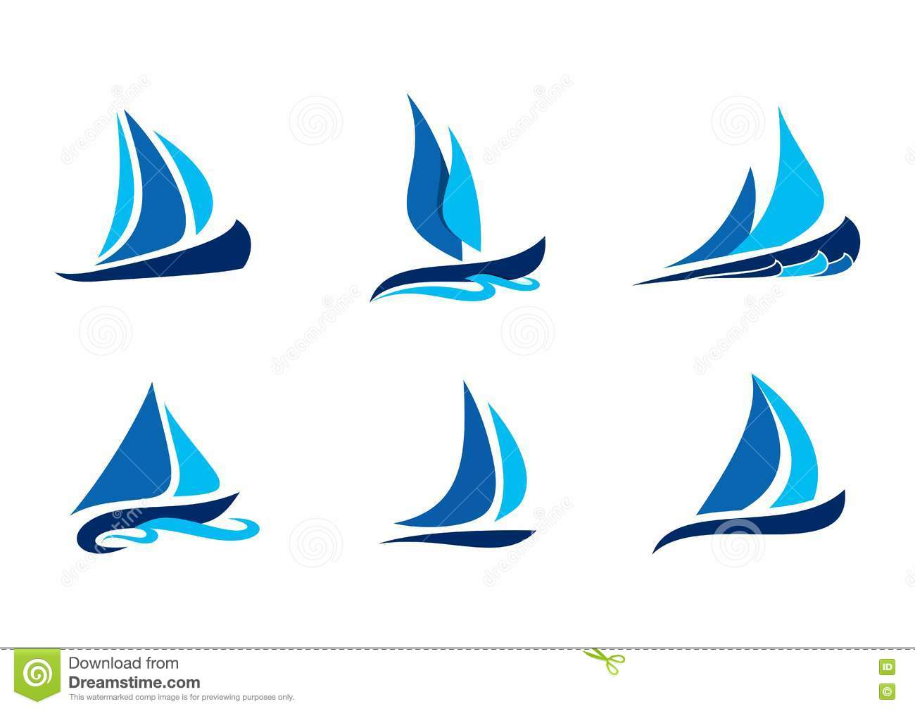 sailing boat logo sailboat symbol creative vector